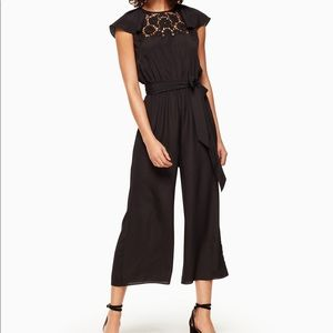 Lace embroidered jumpsuit
